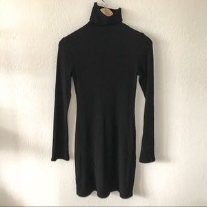 Ribbed Reformation Turtleneck Dress, Medium.